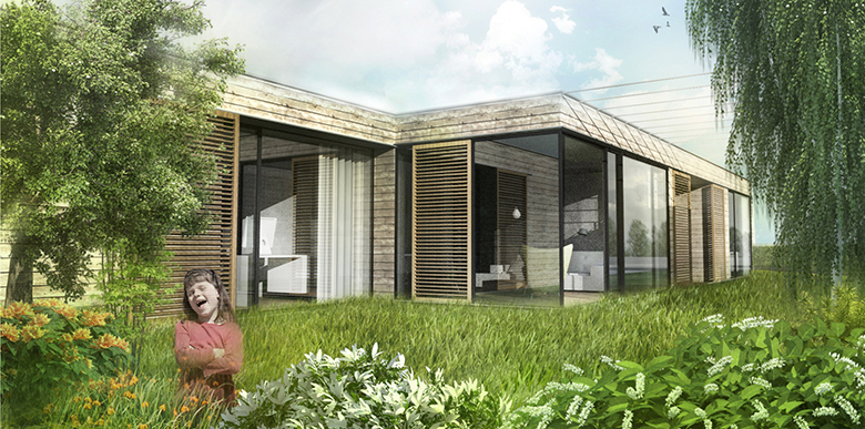 Family house, Wolfstahl, Austria, invited competition