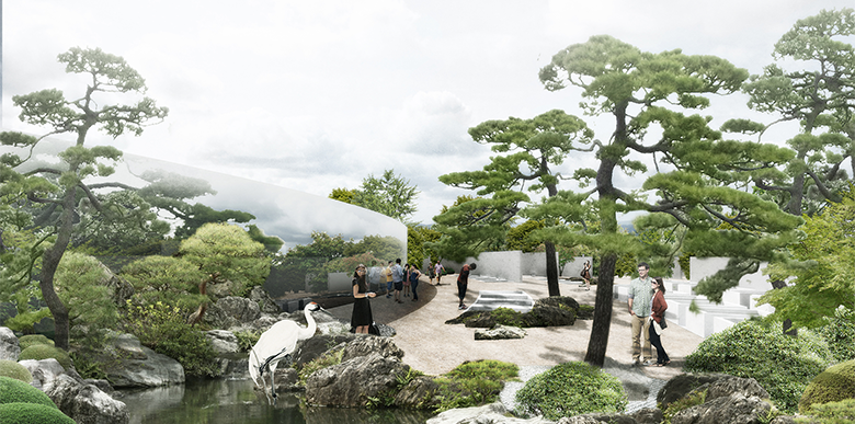 Japanese pavilion, Bory, Bratislava, invited competition